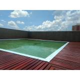 onde achar restauração de deck de madeira ao redor da piscina Jardim Oliveira,