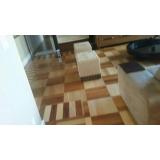 piso taco de madeira raspagem sob medida Vila Ida