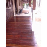 quanto custa  restauração de deck de madeira na Água Azul