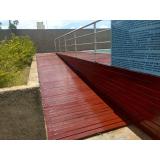 restauração de deck de madeira ao redor da piscina valor Vila Anastácio