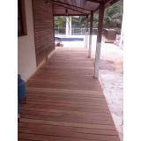restauração de deck de madeira preço no Parque Continental