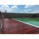 restauração de decks de madeira liso Vila Romana